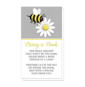 Happy Bee and Daisy Bring a Book Cards at Artistically Invited