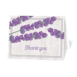 Thank You Cards - Whitewashed Wood Lavender Thank You Cards at Artistically Invited