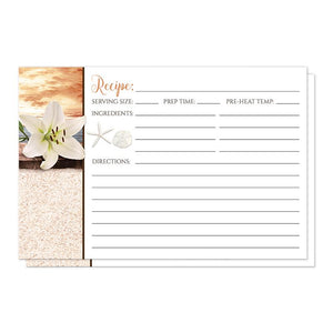Autumn beach recipe cards - Lily Seashells Sand Autumn Beach Recipe Cards at Artistically Invited