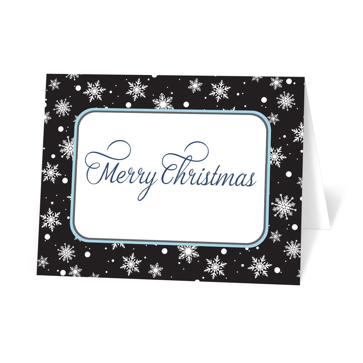 Midnight Snowflake Winter Christmas Cards at Artistically Invited
