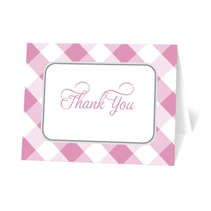 Pink Gingham Thank You Cards at Artistically Invited