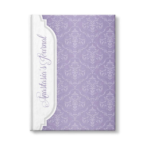 Personalized Purple Damask Journal at Artistically Invited