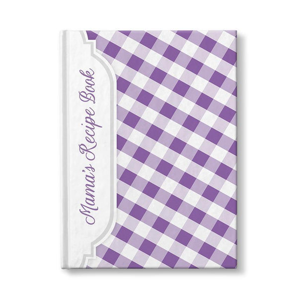 Personalized Purple Gingham Recipe Book at Artistically Invited