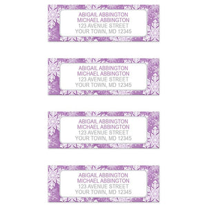Purple Snowflake Winter Return Address Labels at Artistically Invited