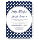 Gray Navy Blue Polka Dot Reception Only Invitations at  Artistically Invited