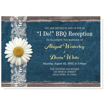 Reception Only Invitations - Daisy Denim and Lace I Do BBQ