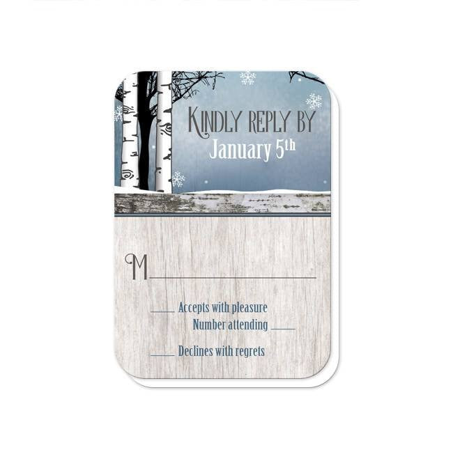 Rustic Blue Winter Deer Reception Only Invitations at  Artistically Invited