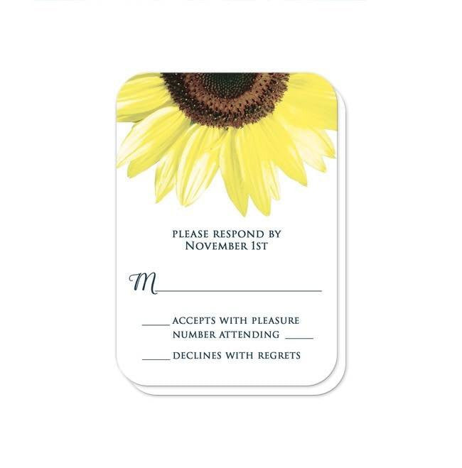 Rustic Sunflower and Denim Reception Only Invitations at  Artistically Invited
