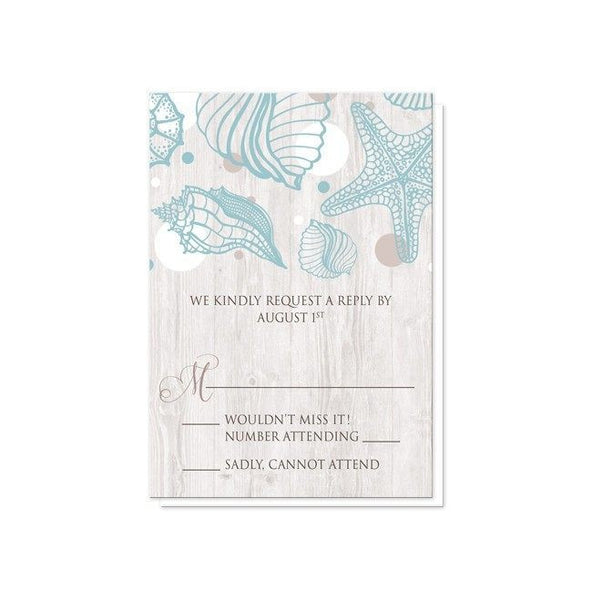 Seashell Whitewashed Wood Beach Reception Only Invitations - Artistically Invited