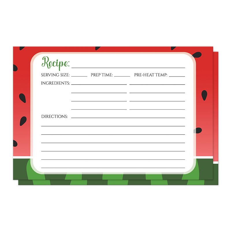 Red and Green Watermelon Recipe Cards at Artistically Invited