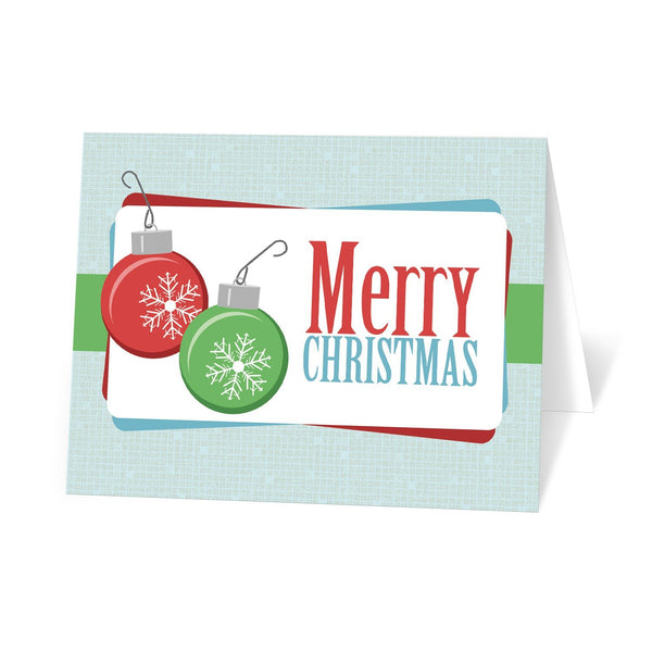 Retro Bulbs Merry Christmas Holiday Cards at Artistically Invited