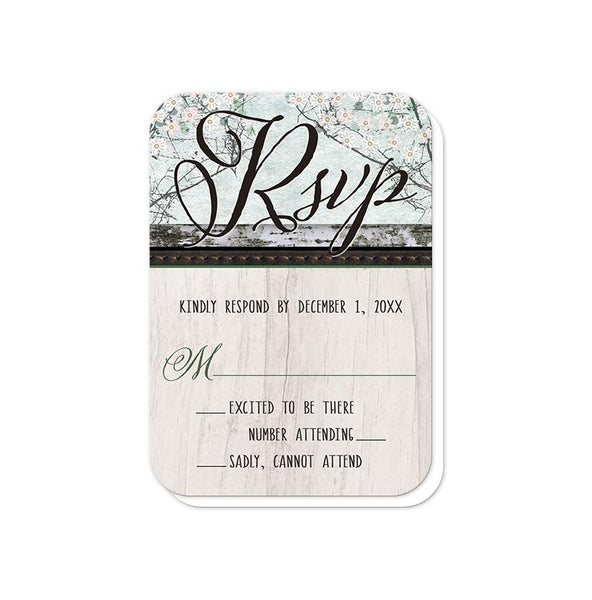 Rustic Bear Floral Wood Vow Renewal Invitations