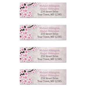 Rustic Cherry Blossom Pink Address Labels