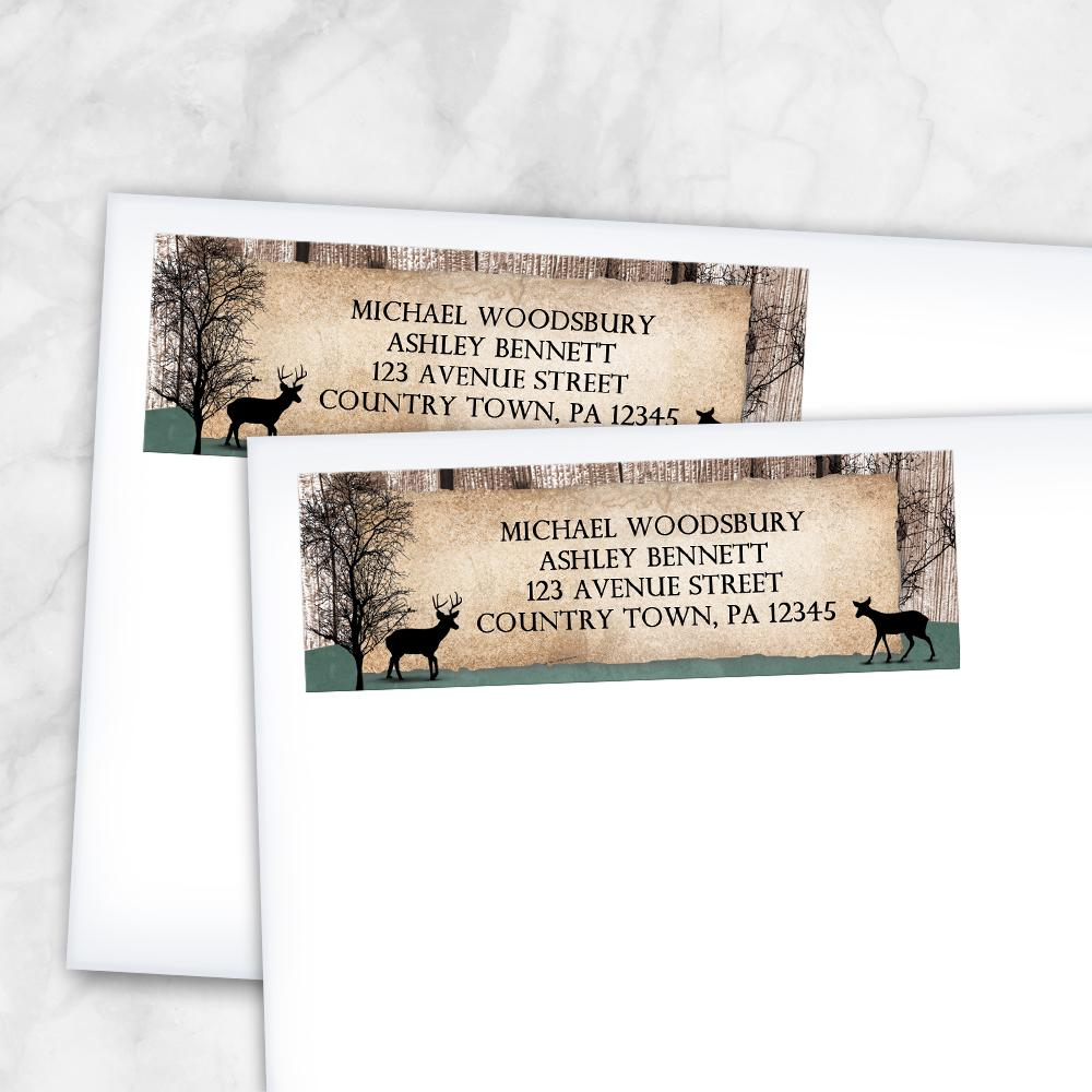 Rustic Woodsy Deer Address Labels at Artistically Invited