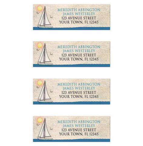Rustic Sailboat Nautical Address Labels