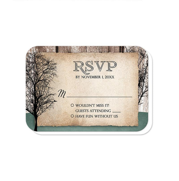 Rustic Woodsy Deer Vow Renewal Invitations