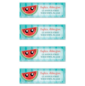 Smiling Watermelon Slice Address Labels