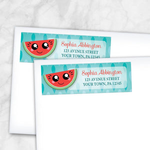 Smiling Watermelon Slice Address Labels at Artistically Invited