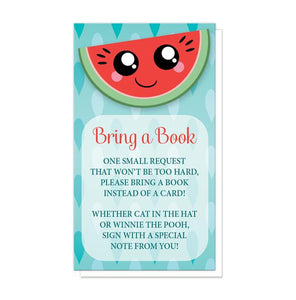 Smiling Watermelon Slice - Watermelon Bring a Book Cards at Artistically Invited