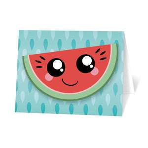 Smiling Watermelon Slice - Watermelon Note Cards at Artistically Invited