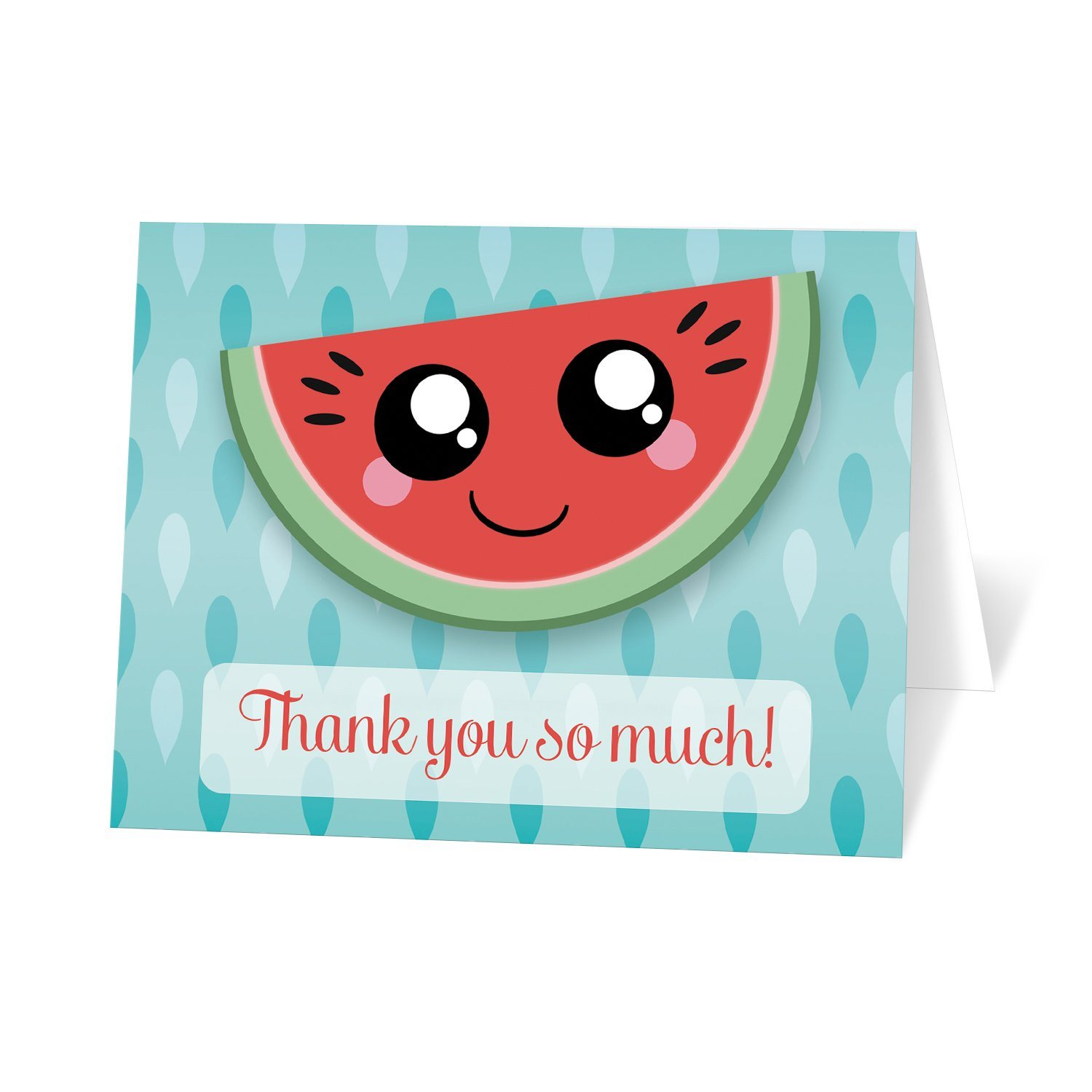 Smiling Watermelon Slice - Watermelon Thank You Cards at Artistically Invited