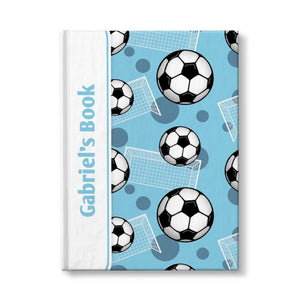Personalized Blue Soccer Journal at Artistically Invited
