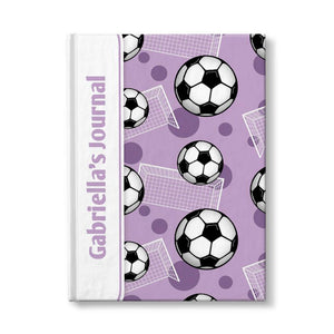Personalized Purple Soccer Journal at Artistically Invited