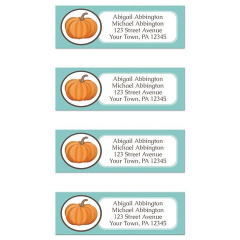 Teal Pumpkin Return Address Labels at Artistically Invited