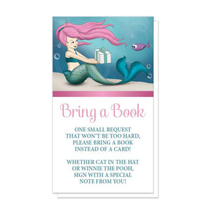 Under the Sea Mermaid Bring a Book Cards at Artistically Invited