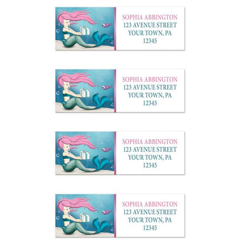 Under the Sea Mermaid Return Address Labels at Artistically Invited