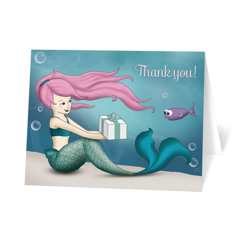 Under the Sea Mermaid Thank You Cards at Artistically Invited