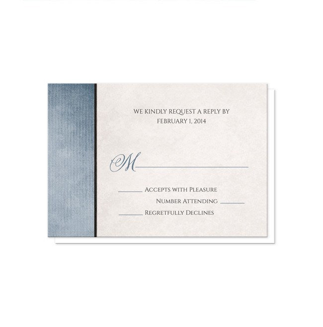 Lantern Daisy Rustic Blue Wedding Invitations at  Artistically Invited