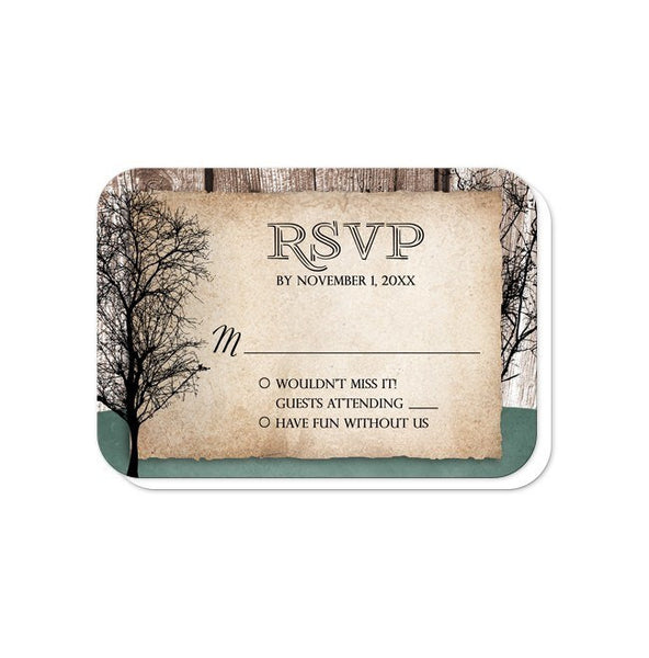 Rustic Deer Woodsy Wedding Invitations - Artistically Invited