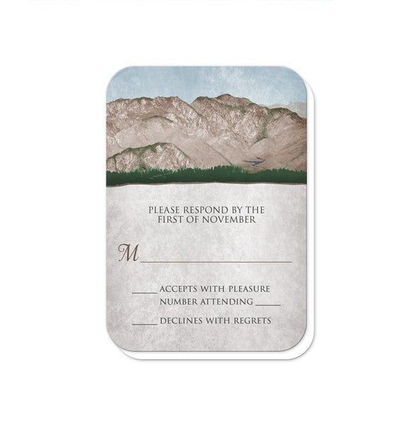 Rustic Mountain Scene Wedding Invitations - Artistically Invited