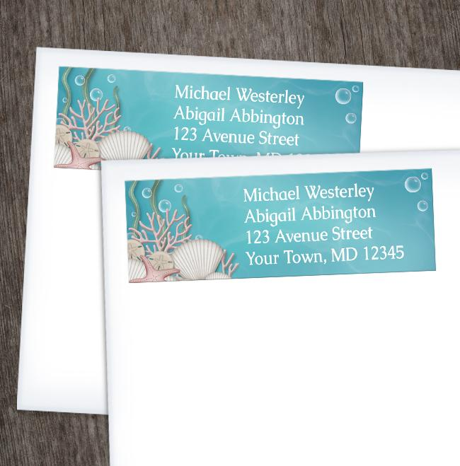 Whimsical Under the Sea Address Labels at Artistically Invited