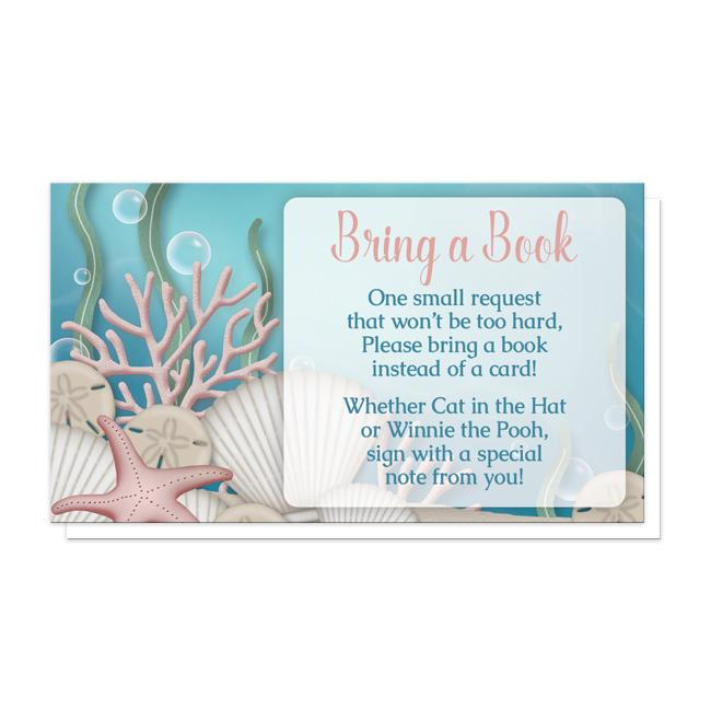 "Whimsical Under the Sea ""Bring a Book"" Cards"