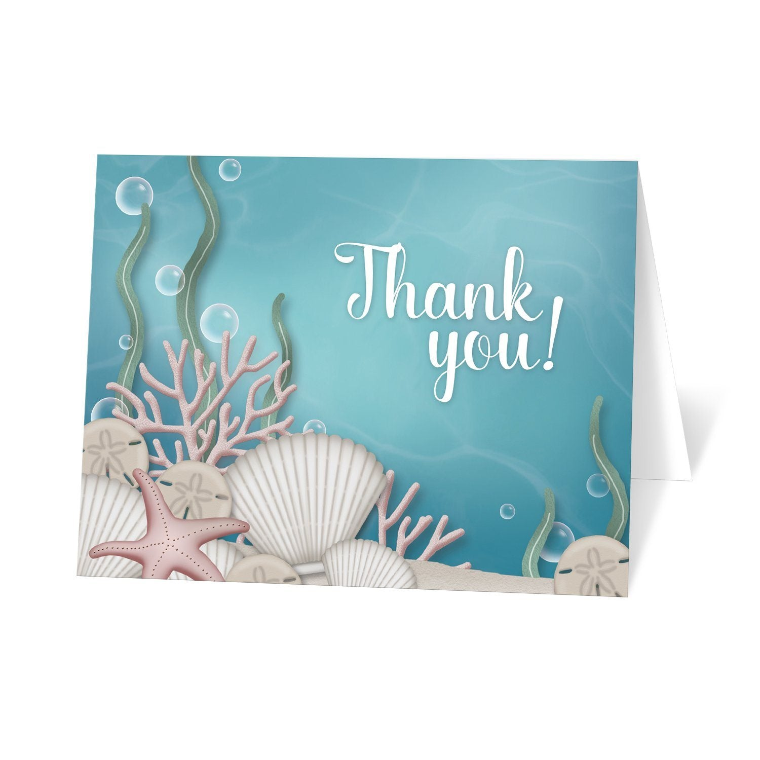 Whimsical Under the Sea Thank You Cards at Artistically Invited