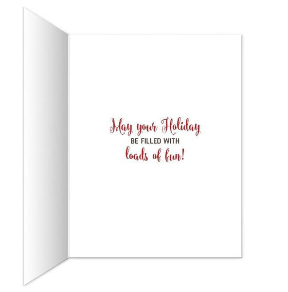 Funny Tipsy Reindeer Merry Christmas Christmas Cards - Artistically Invited