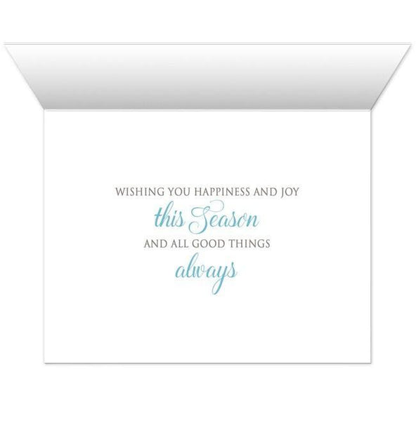 Rustic Winter Wood Blue Snowflake Holiday Cards - Artistically Invited