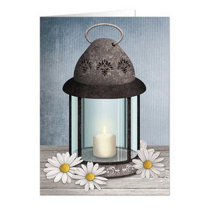Rustic Lantern Daisy Cards Note Cards - Artistically Invited
