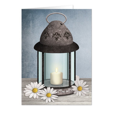 Cards - Note Cards - Rustic Lantern Daisy Cards