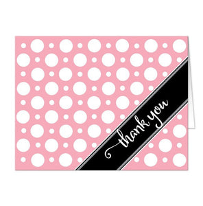 Cafe Pink Polka Dot Thank You Cards - Artistically Invited