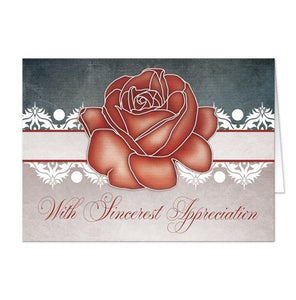 Vintage Rustic Country Rose Thank You Cards - Artistically Invited