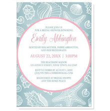 Beach Message from a Bottle Bridal Shower Invitations at