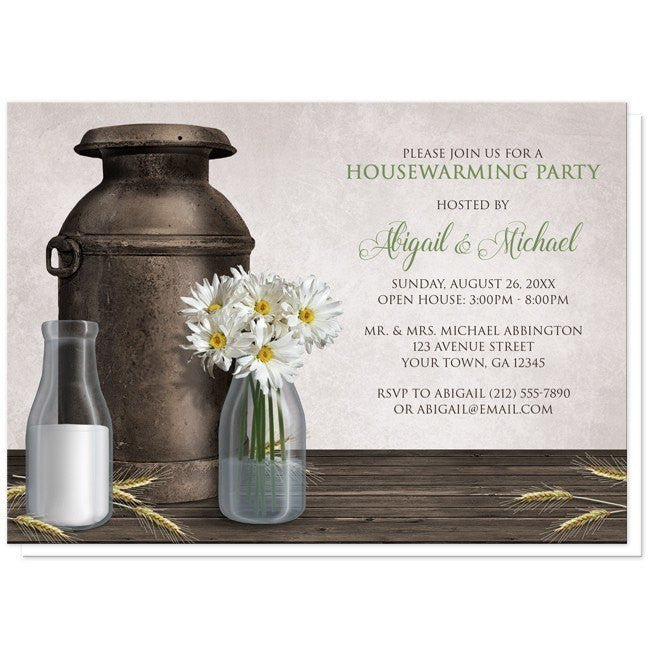 Rustic Country Dairy Farm Housewarming Invitations - Artistically Invited