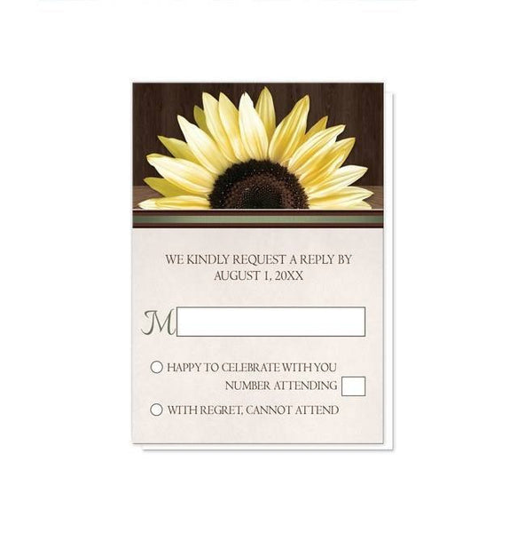 Country Sunflower Over Wood Rustic Reception Only Invitations - Artistically Invited