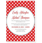 Gray and Red Polka Dot Reception Only Invitations at  Artistically Invited