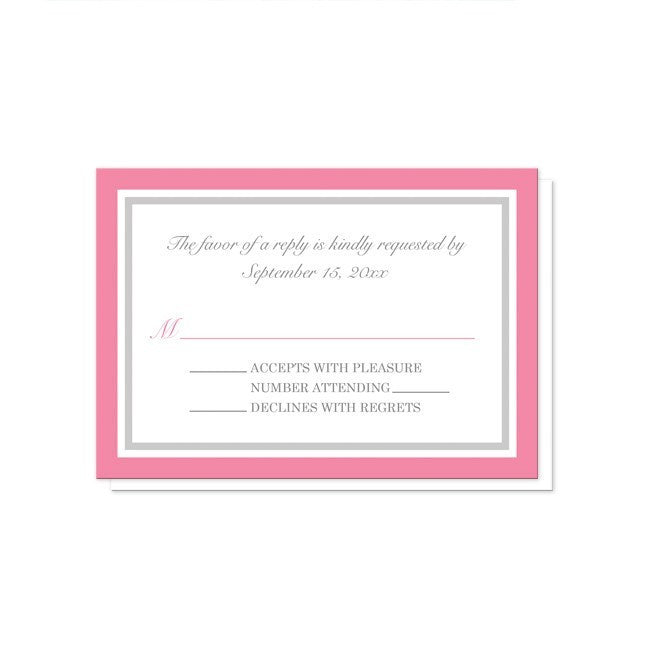 Modern Pink and Gray Reception Only Invitations at  Artistically Invited