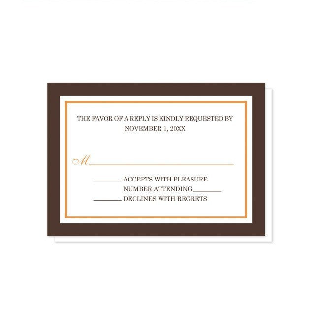 Orange and Brown Autumn Reception Only Invitations at  Artistically Invited