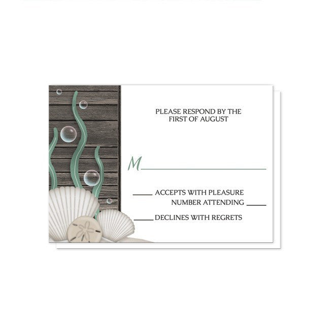 Rustic Beach Seashells and Wood Reception Only Invitations at  Artistically Invited